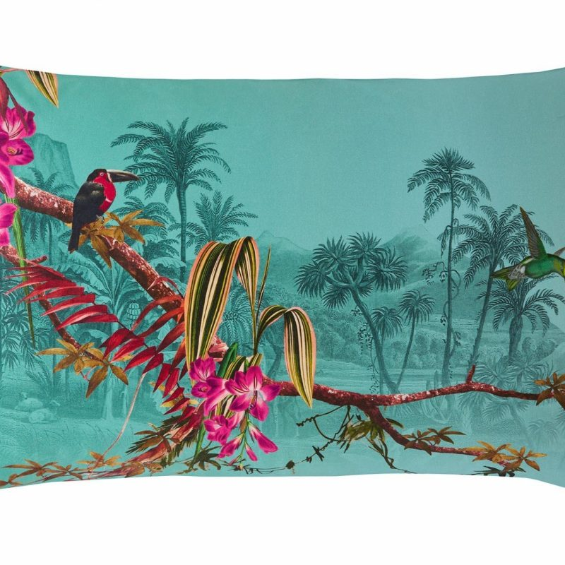 Hibiscus Jade Left Pillowcase Cut Out