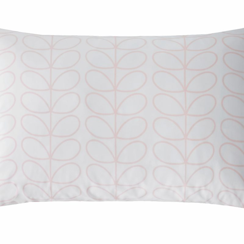 Linear Stem Pink Pillowcase Cut Out