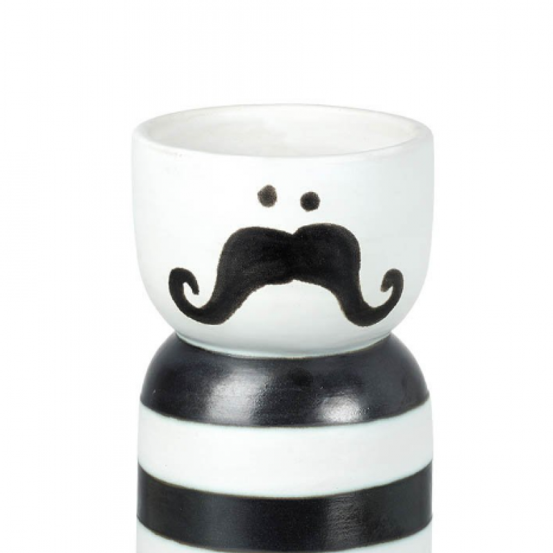 Stripy moustashe vase
