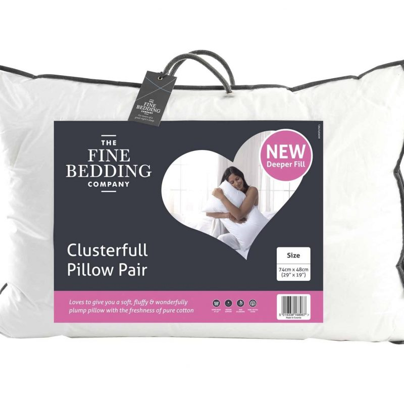 Cluster pillow pair fine bedding