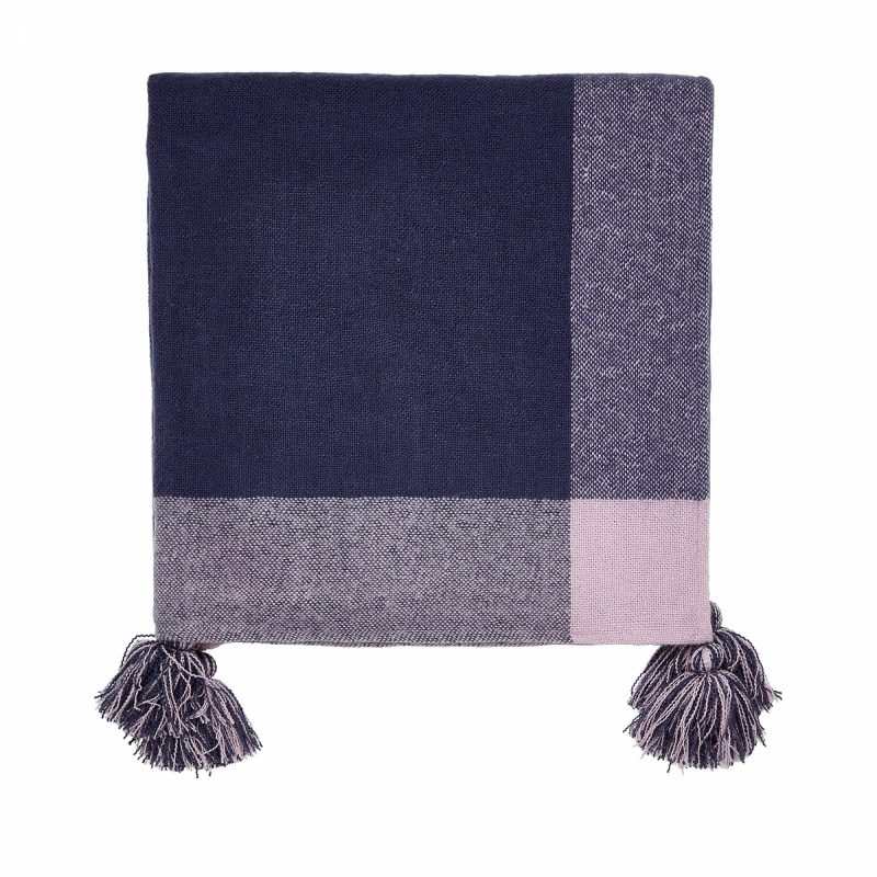 Joules cottage garden border stripe throw cut out