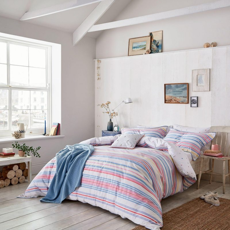 Joules summer fruit stripe main bed relaxed