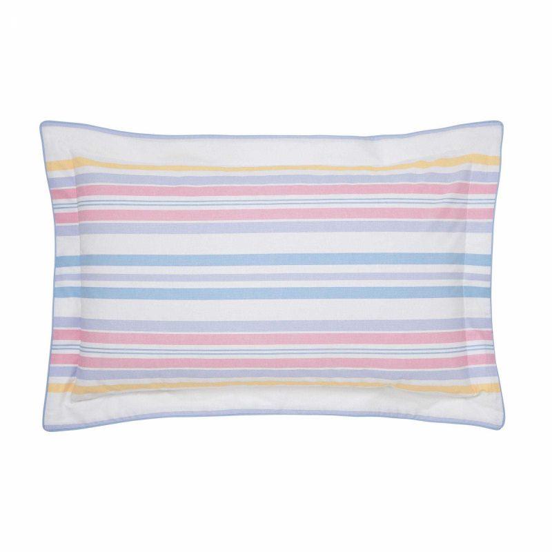 Joules summer fruit stripe oxford pillowcase cut out