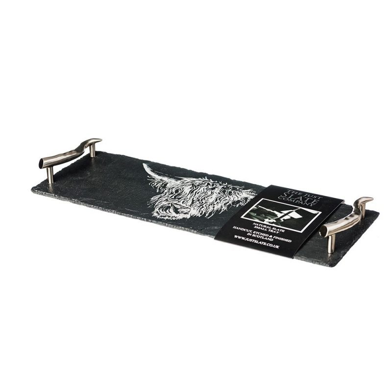 Just slate small highland cow serving tray 2
