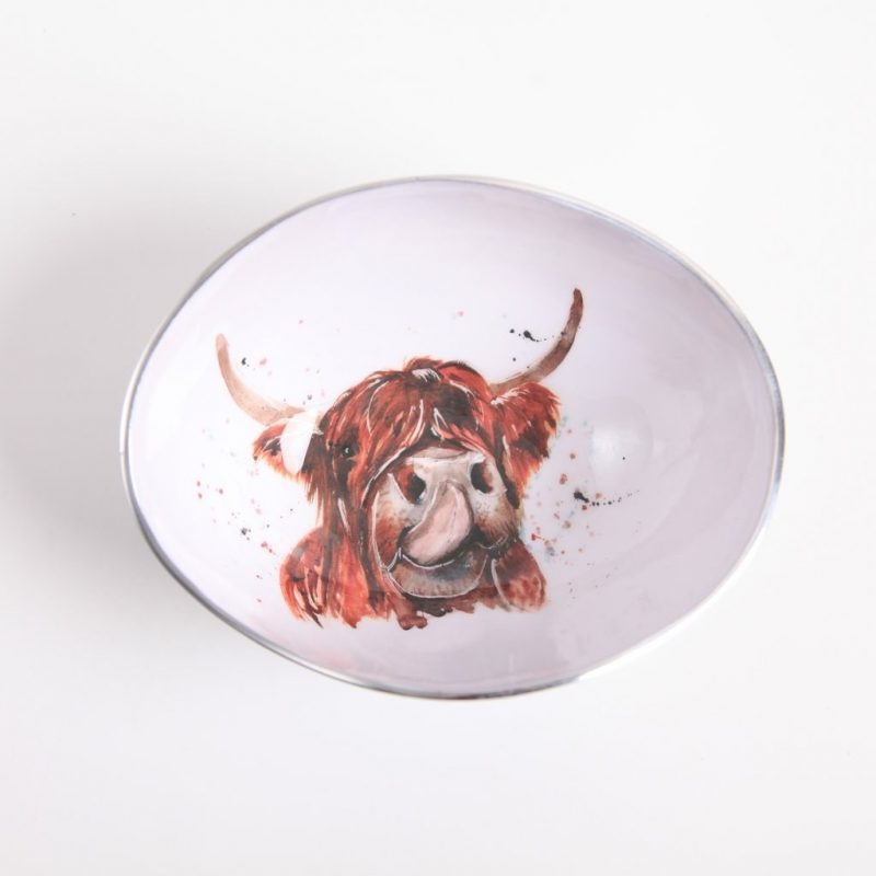Small highland cow bowl