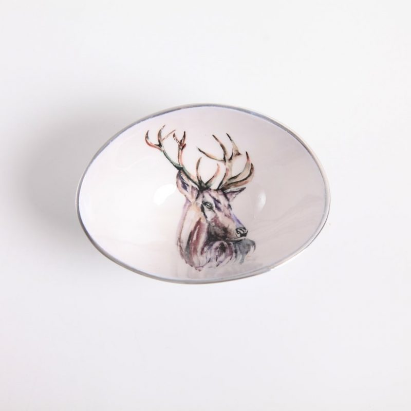 Stag oval bowl small 1