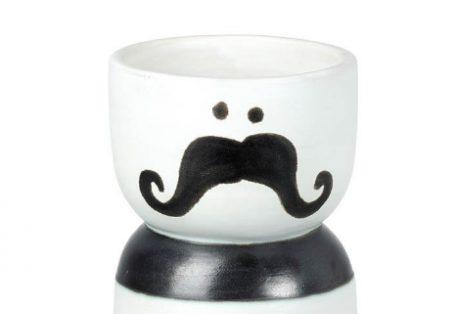 Stripy moustashe vase