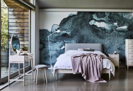 Ercol Salina 3891 kingsize bed 3899 dressing table lifestyle Ash PT