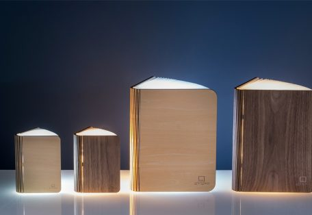Gingko Smart Book Light Natural Wood05