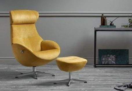 Globe recliner chair and footstool from Conform Main