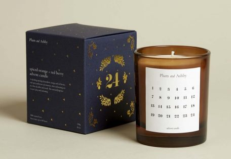 Spiced orange red berry advent candle
