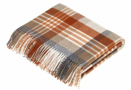 T0359 K06 Lambswool Melbourne Saffron Throw