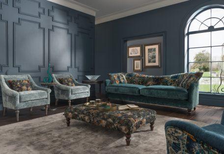 Tiffany Grand Sofa Opium Teal B