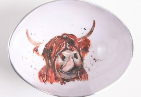 Highland cow small bowl